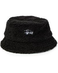 ec40689b655 Lyst - Stussy Logo Cap in Black for Men - Save 68.42105263157895%
