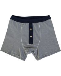 Merz B. Schwanen | 255 Button Facing Underpants Ink-white | Lyst