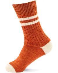 Merz B. Schwanen - S75 Retro Sport Socks Rust/nature - Lyst