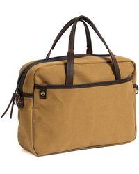 Bleu De Chauffe - Business Bag Report 2 Canvas Camel - Lyst