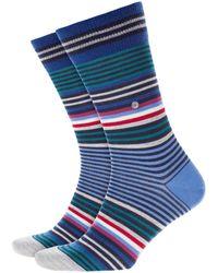 Burlington - Stripe Socks Marine - Lyst