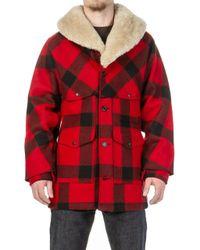 Filson - Lined Wool Packer Coat Red/black - Lyst