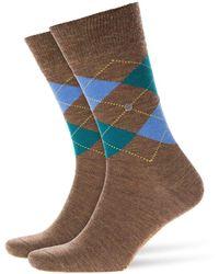 Burlington - Melange Edinburgh Socks Moss - Lyst