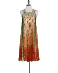 Jean Paul Gaultier - Orange & Green Silk Dress - Lyst