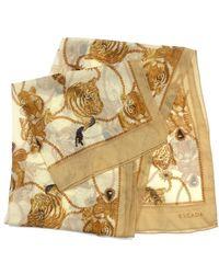 ESCADA - Beige Tiger & Leopard Print Silk Scarf - Lyst