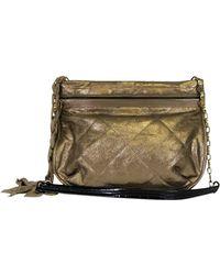 Lanvin Gold Metallic Amalia Purse