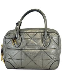 Marc Jacobs - Metallic Silver Quilted Leather Bag - Lyst 70e9010dc12b4