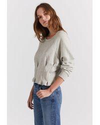 Current/Elliott - The Pintucked Sweatshirt - Lyst