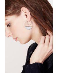 Cushnie et Ochs - Mother-of-pearl And Silver Callao Baby Loop Earrings - Lyst
