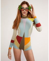 Cynthia Rowley - Kalleigh Colorblock Wetsuit- Extended Sizes Available - Lyst