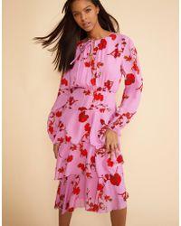 Cynthia Rowley - Zuma Asymmetrical Midi Dress - Lyst