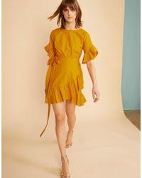 Cynthia Rowley - Saffron Wallflower Ruffle Wrap Dress - Lyst