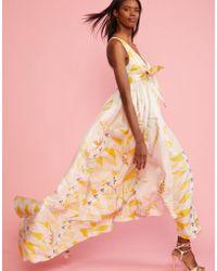 Cynthia Rowley - Aurora Printed Silk Maxi Dress - Lyst
