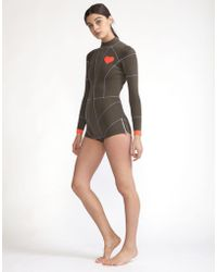 Cynthia Rowley - Olive Heart Emblem Wetsuit - Lyst