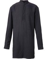 Haider Ackermann Mandarin Collar Long Shirt - Lyst