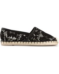 Valentino Lace Espadrilles - Lyst