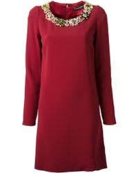 Dolce & Gabbana Gemstone Shift Dress - Lyst
