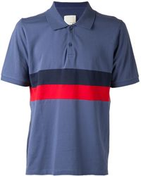 Band Of Outsiders Panel Stripe Polo Shirt - Lyst