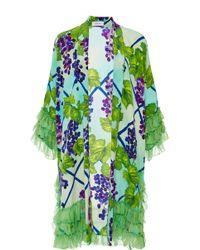 Isolda Vitral Frilled Kimono - Lyst