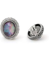 Stephen Dweck - Verona Oval Triplet Diamond Button Clip Earrings - Lyst