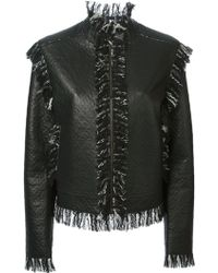 Lanvin Black Fringed Jacket - Lyst