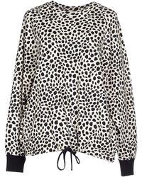 Chloé Animal Print Sweatshirt black - Lyst