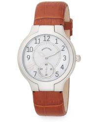 Philip Stein Round Stainless Steel Watch - Lyst
