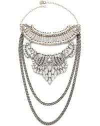 Laura Cantu | Briana Necklace - Silver/clear | Lyst