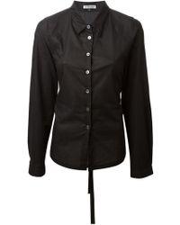 Ann Demeulemeester Waistcoat Shirt - Lyst