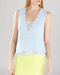 BCBGMAXAZRIA Top - Amerly Sleeveless V-Neck - Lyst