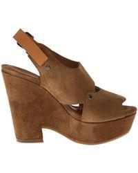 See By Chloé heels sandal heels platform heels - Lyst