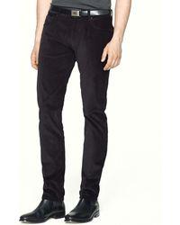 Ralph Lauren Black Label Corduroy Pants  Straight Fit - Lyst