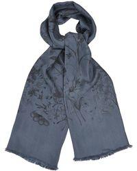 Gucci Floralprint Silk Scarf - Lyst