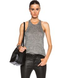 T By Alexander Wang Heather Linen Jersey Camisole - Lyst