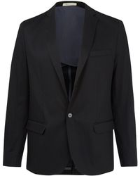 Mr Rick Tailor - Black Single Breasted Cottonblend Blazer - Lyst