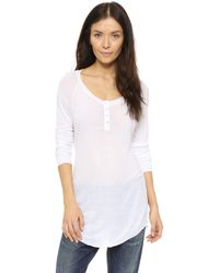 Csbla - Long Sleeve Henley Top - Lyst