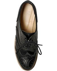 Blugirl Blumarine - Leather Brogue Platform Shoes - Lyst
