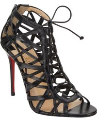 Christian Louboutin Laurence Anyway Caged Ankle Booties - Lyst