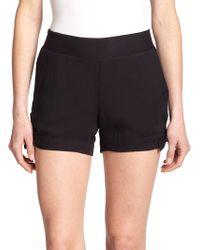 Ella Moss Stella Knot-Detail Shorts black - Lyst