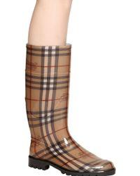 Burberry 20mm Haymarket Rubber Rain Boots - Lyst