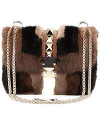 Valentino Glam Lock Mink Fur Shoulder Bag - Lyst