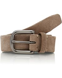 Barneys New York - Men's Suede Belt - Lyst