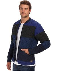 Scotch & Soda Quilted Multi Tone Bomber Jacket - Lyst