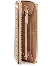 Valentino Rockstud Continental Zip Wallet - Lyst