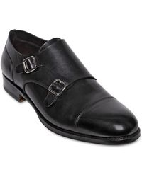 DSquared² Buckle &Brushed Leather Monk Strap Shoes - Lyst