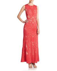 BCBGMAXAZRIA Veira Gown red - Lyst