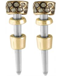 House Of Harlow 1960 Rift Valley Stud Earrings gold - Lyst
