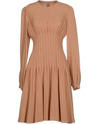 Michael Kors Beige Knee-length Dress - Lyst