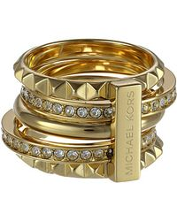 Michael Kors Pave Stackable Pyramid Ring - Lyst