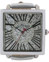 Betsey Johnson - Women'S Silver Metallic Strap Watch 50Mm Bj00325-05 - Lyst